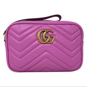 Gucci Purple GG Marmont Wallet Wristlet Clutch Bag